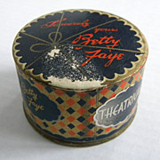 Vintage 1940�s Betty Faye Mon Paris  Theatrical Face Powder - Seal and Unopened!