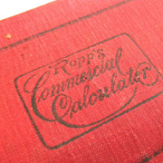 SALE Antique 1887 Ropps Commercial Calculator Book
