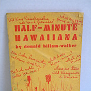 1942 Half Minute Hawaiiana by Donald Billam Walker
