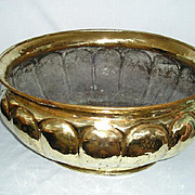 English Brass Jardiniere, Circa 1880