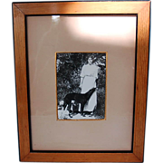 Original Pre-Revolution Photograph of Russian Grand Duchess Olga Alexandrovna with Borzoi and