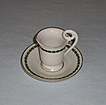 Early 20th Century Continental Porcelain Laurel Leaf Cup & Saucer