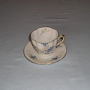 Early 20th Century Continental Porcelain Coffee Cup & Saucer
