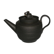 18th Century English Black Basalt Teapot