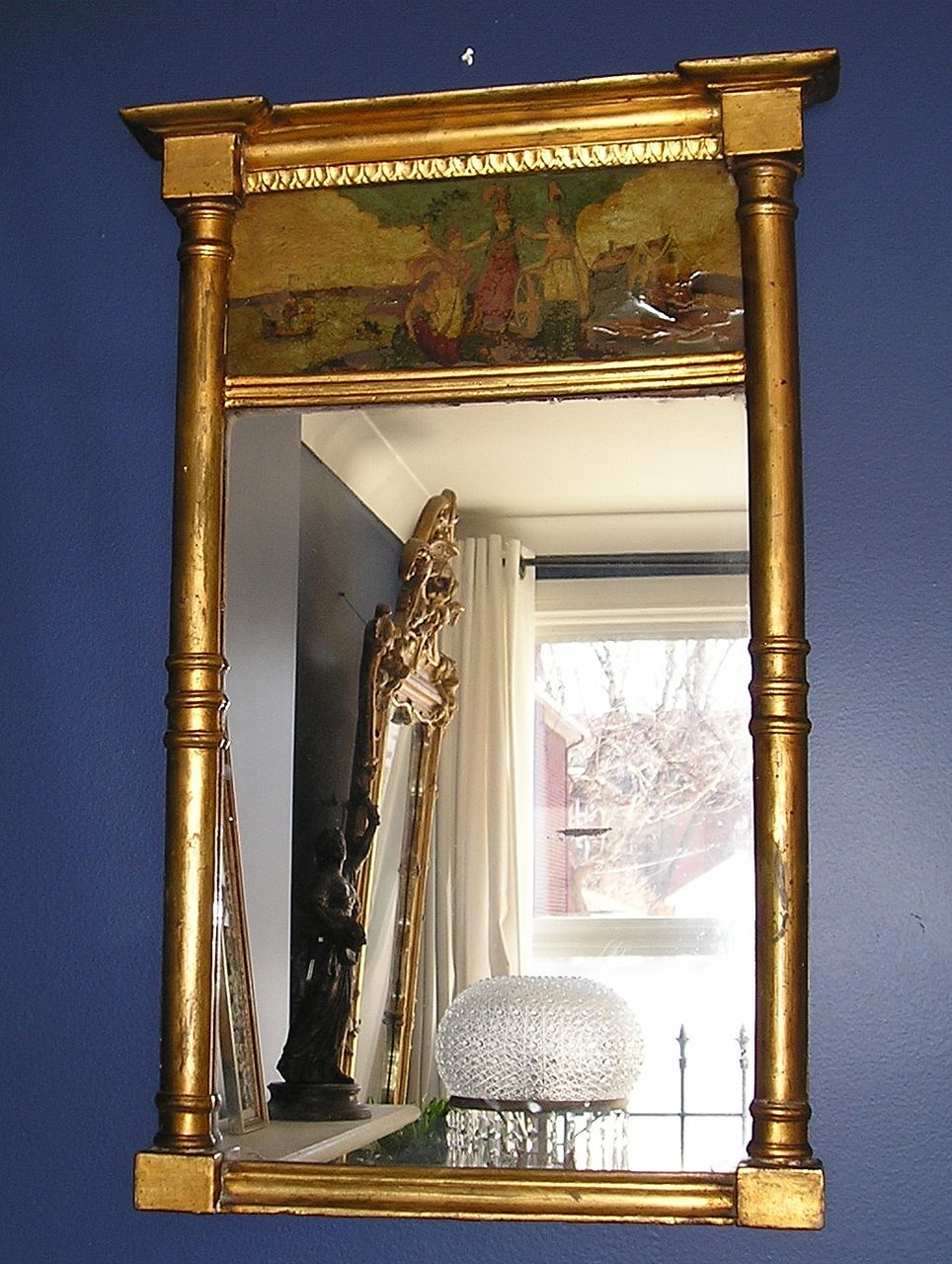 Early 19th Century English Giltwood Architectural Mirror