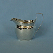 Early 19th Century English Sterling Silver Creamer by Duncan Urquhart & Naphtali Hart