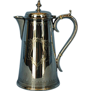 19th Century English Silverplate Hot Water or Coffee Jug by Elkington & Co.