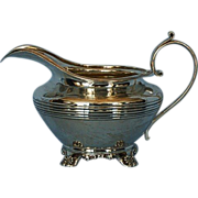 Early 19th Century English Sterling Silver Creamer by George Burrows II & Richard Pearce