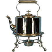 Late 19th Century English Silverplate Kettle on Stand