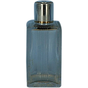 Early 20th Century French Cut-Glass Cologne Bottle with 950 Fine Silver Mounts