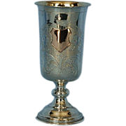 19th Century Dutch 833 Fine Silver Beaker