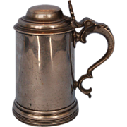 Early 19th Century English Pewter Tankard by Watts & Harton