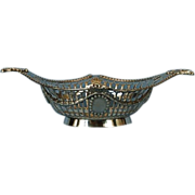Early 20th Century English Sterling Silver Bonbon Dish by William Hutton & Sons