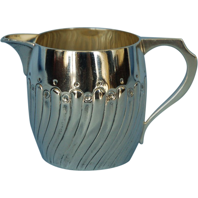 19th Century English Sterling Silver Creamer by Walter & John Barnard