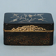 18th Century French Snuff Box with Pique Work