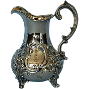 Mid-19th Century English Sterling Silver Creamer by Daniel & Charles Houle