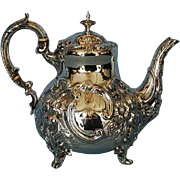 Mid-19th Century English Sterling Silver Teapot by Daniel & Charles Houle