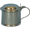 Vintage English Sterling Silver Mustard Pot by Edward Barnard & Sons
