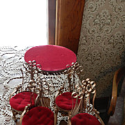 Tramp Art  Furniture  Table and Chairs  from Tin Cans