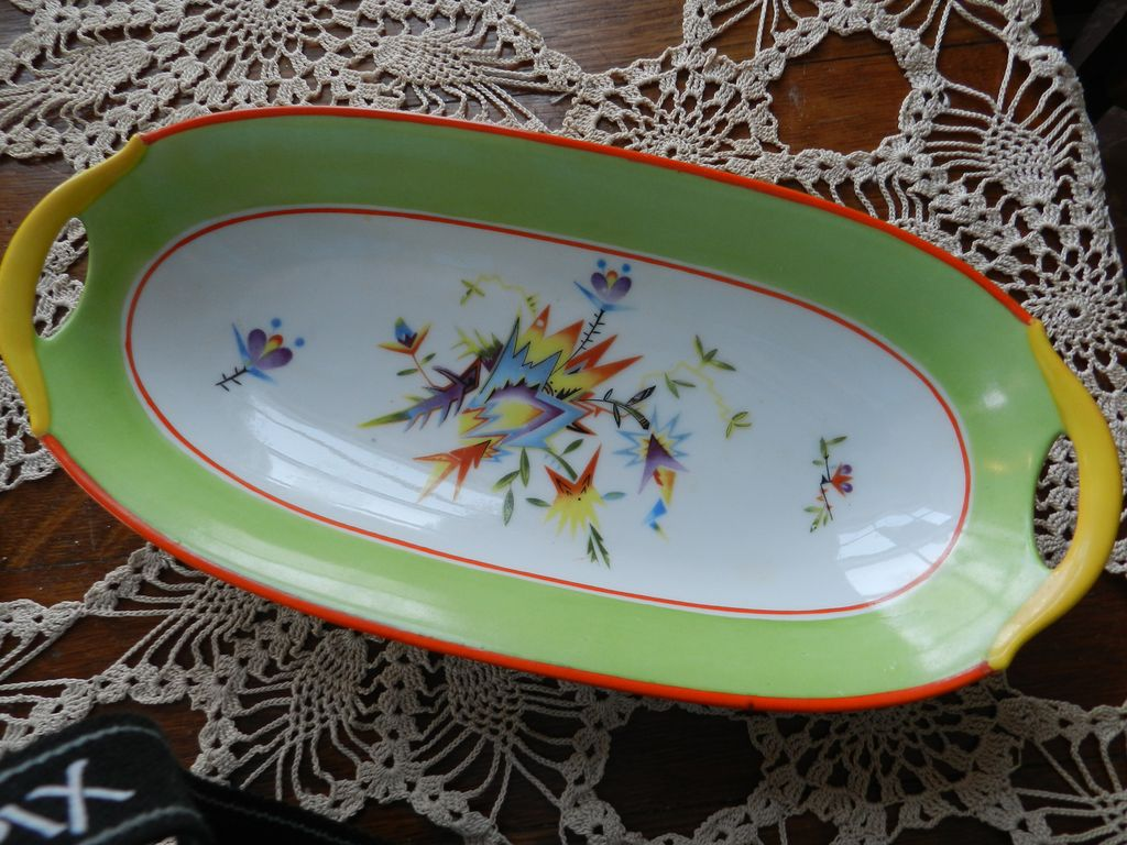 Moschendorf Bavaria China Celery Dish BRIGHT COLORS from five4us ...
