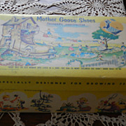 Mother Goose Shoe Box 1954  Nursery Rhymes