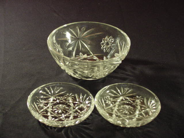 EAPC Star of David Fruit or Cereal Bowl and 2 nut dishes or Coaster