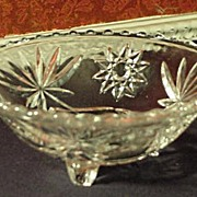 EAPG Star of David Footed Serving Bowl or Candy Dish