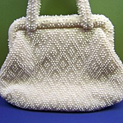 Beaded Purse from Hong Kong Beaded Handbag Hand Made in HOng Kong