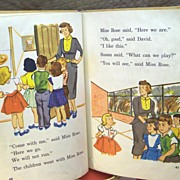 "1955 Early Reader ""COME ON"" School Book by Beckley-Cardy Company"