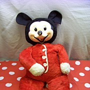 1930's Mickey Mouse Stuffed Plush Toy marked W.D.P