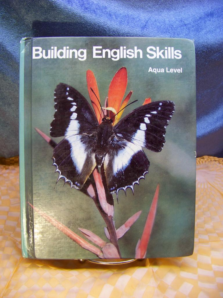 1984 Schoolbook Building English Skills  Aqua Level