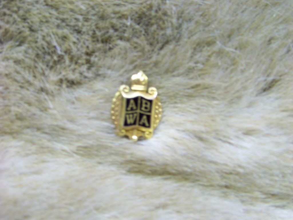 ABWA Membership Pin 10K GF Lapel Pin