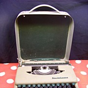 Smith-Corona Skyriter Typewriter  Vintage 1950's Smith Corona Typewriter