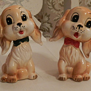 Cocker Spaniel Dogs Salt and Pepper Shakers    Commodore Japan