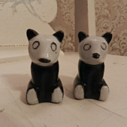 Cute loveable Panda Bear Salt and Pepper Shakers   Japan