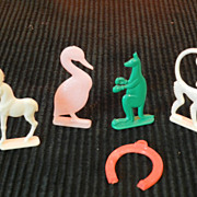 Nosco Cracker Jack Prize Animals and Horse Shoe