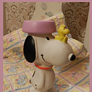 Vintage Snoopy Squeaky Toy     Snoopy and Woodstock