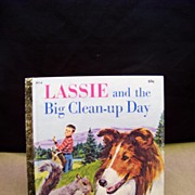 1979 Lassie and the Big Clean-up Day Little Golden Book