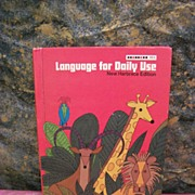 1973 Vintage School Book Language for Daily Use  Home Schooling