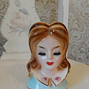 Josef Originals  Head Vase with Eyelashes