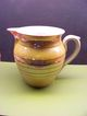 Czechoslovakia Luster Ware Pitcher Marked PJ   1 1/2 L