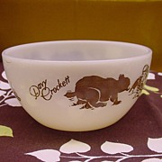 "Davy Crockett 5"" Fire King Cereal Bowl  Rounded Bottom WOW"