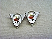 Vintage Dancers Jewelry Collar Points Square Dancers under Bubble