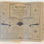 1920's Royal Society Hot Iron Bedspread Transfers