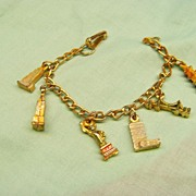1950's Vintage Child's Charm Bracelet  Souvenir Bracelet NEW YORK CITY