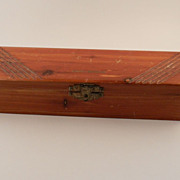 Cedar Wood Pencil Box   w/ engraved name