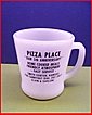Fire King Glass Coffee Mug Advertising PIZZA PLACE Smith Center, KS