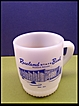 Fire King Glass Coffee Mug Advertising Roseland, Nebraska Bank