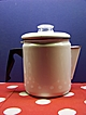 Great Old Granite Enamel Coffee Pot with Glass top