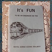 SALE Train Booklet Royal Gorge Scenic Railway by Schnelle
